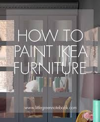 gray furniture paintHow to Paint and Even Wallpaper IKEA Furniture  Little Green