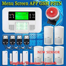 home automation alarm. smart app menu lcd wireless 433mhz sms pstn gsm dual network home automation kit burglar security alarm s