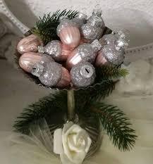 12 Er Set Weihnachtskugel Glas Eichel Rosa Christbaumschmuck