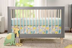 babyletto furniture. Picture Of BabyLetto Lolly 3 In 1 Convertible Crib Toddler Rail Included  Grey / Washed Natural Babyletto Furniture I