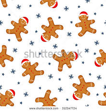 cute gingerbread background. Delighful Cute Gingerbread Man Is Decorated In Xmas Hat Seamless Background Texture Cute  Vector Pattern For New And Background 0