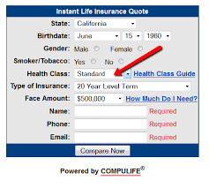 "Get Life Insurance Quotes Life Insurance Quote with ""Medium Substandard"" Health Rating 61"