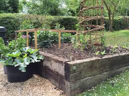 garden beds ideas. raised garden beds railroad ties ideas e