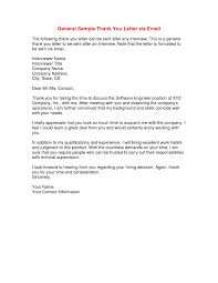 Letter Sample Thank You Letter After Interview