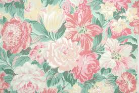 vintage wallpaper. Brilliant Vintage 1950s Floral Vintage Wallpaper In G