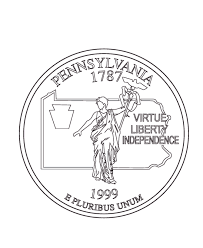 Small Picture Pennsylvania State Quarter Coloring Page USA State Quarters
