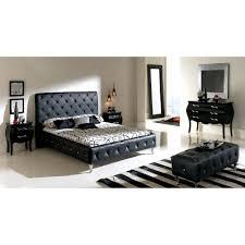 Modern Black Bedroom Sets Nelly Bedroom Set Black Modern Manhattan
