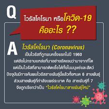 รัฐบาลไทย-ข่าวทำเนียบรัฐบาล-ไวรัสโคโรนา หรือโควิด-19 คืออะไร ??
