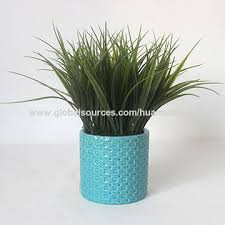 China 11 potted artificial grass plant garden decoration plastic