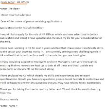 hr officer cover letter example sample hr recruiter cover letter