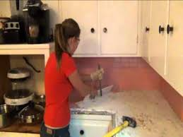 stephanie s step by step kitchen remodel step 1 demo of old tile countertops