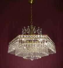 Kronleuchter Antik Alte Lampen Lüster Kristall Jugendstil In