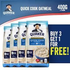 quaker instant oatmeal quick cook 400g 3 1 bundle