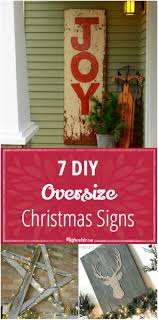 Christmas Signs 7 Diy Oversize Christmas Signs Tip Junkie
