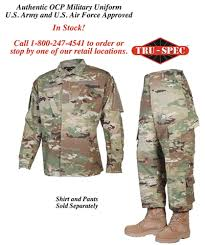 Army Ocp Size Chart Female Tru Spec Ocp Scorpion Uniform Pants Regular Length