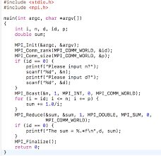 mpi comm size solved can somebody help me fix the following code it is