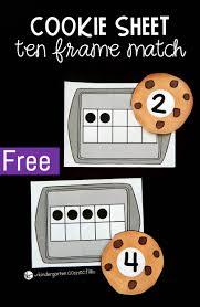 cookie ten frame matching game