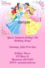 Personal Invitations Birthday Personalized Disney Princess Birthday Invitations Personalized Party