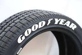 goodyear tire lettering white