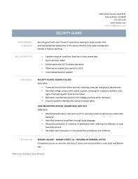 Best Buy Resume Examples Resume Resume Security Officer