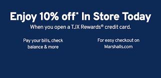 tjx rewards credit card marshalls