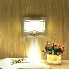 battery powered wall light 6 led closet with motion sensor high technology  lamp warm white night