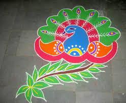 Diwali Rangoli Designs For Competition Peacock Rangoli Patterns For Deepavali Peacock Nice