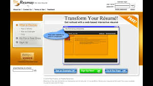 rez com creates an online resume in one minute rez com creates an online resume in one minute