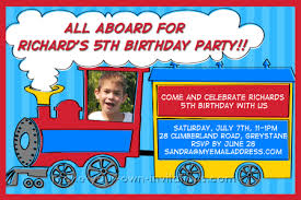 Invitation Ideas Train Party Invitations Templates Birthday