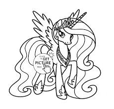 Princess Celestia My Little Pony Coloring Page For Kids For Girls
