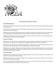 Objective Esthetician Resume Objective