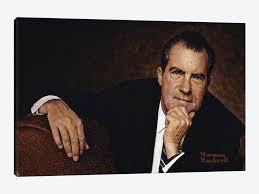 Art <b>print POSTER Canvas</b> Portrait of Richard Nixon Art Posters Art