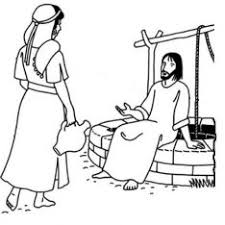 Small Picture Bible Coloring Page Woman At The Well