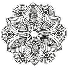 Mandala Fleur Originale Par Markovka Coloriage Mandalas