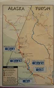 Alaska Yukon Map Drive From Whitehorse To Inuvik Nw