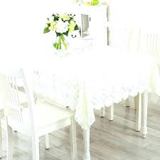 round bedside table covers side simple style lace cloth thick polyester jacquard tablecloth square full size