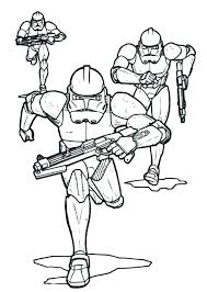 Clone Trooper Coloring Page Star Wars The Clone Wars Clone Troopers