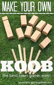 Diy Outdoor Games Diy Koob The Best Lawn Game Ever