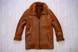 armani jeans shearling leather jacket