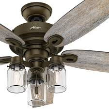hunter 52 regal bronze ceiling fan with 3 lightason jar glass 1 of 6only 0 available