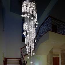 modern design spiral crystal chandelier res home decoration led home stair lighting flower canada 2018 from thebasket cad 673 23 dhgate canada