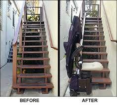 exterior stair chair lift. Contemporary Lift A Safe Way To Negotiate An Outdoor Stairway  Install Stairlift Throughout Exterior Stair Chair Lift T