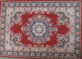 persian rug red blue white 1 7x1 2m