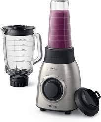 Amazon.de: Philips HR3556/00 Standmixer (900W, 27000 Umdr. / Min, 2L  Glasbehälter, Trinkflasche, spülmaschinenfest) edelstahl