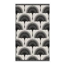 beaumont black stone art deco fan vinyl floor mat