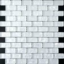 le glass tile mosaic tiles ice pearl subway blue backsplash broken mosai