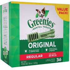 Greenies Size Chart Greenies Regular 36 Oz 36 Bones
