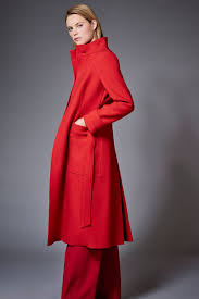 j by jasper conran red long crepe funnel coat 165 from debenhams