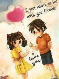 cute cartoon love couple share es 4 you