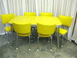 retro table and chairs retro mid century yellow chrome table 6 chairs for retro mid
